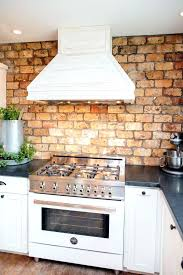 red brick tile backsplash kitchen contemporary white brick wall medium size  of kitchen white brick wall