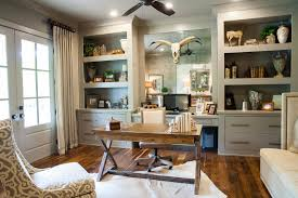 home office unit. Office Built Ins With Energy Star Ceiling Fans Home Farmhouse And Built-in Shelves Unit