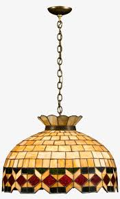 Leaded Glass Hanging Light Hanging A Lampshade Png Free