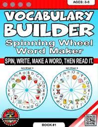 Word Photo Maker Vocabulary Builder Spinning Wheel Word Maker Spin Write
