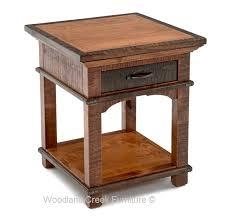 elegant rustic furniture. Elegant Rustic End Table Craftsman Nightstand Side Tables Designs Furniture