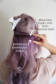 clip in hair extensions purple hair