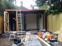 garden office with storage.  garden henley stanza garden office with storage area with d