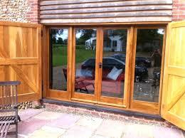 french door frame smashing sliding patio exterior brown teak wood glass w54 patio