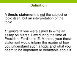 writing thesis statements 6 definition a thesis statement