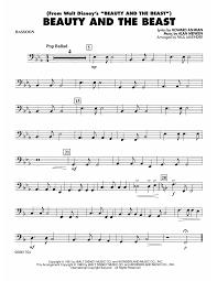 bassoon sheet music beauty and the beast bassoon sheet music at stantons sheet music
