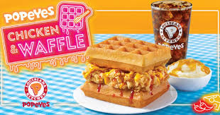 popeyes brings the clic en waffle to s pore for a limited time only