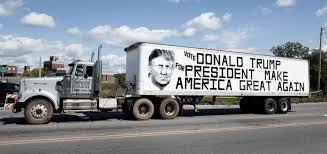 Image result for trump in semi truck