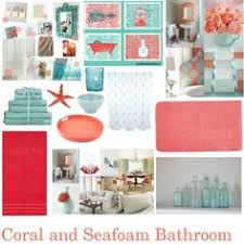 Our New Beachy Bathroom Monogram Wall Pink Tan U0026 Grey  Home Colorful Bathroom Sets