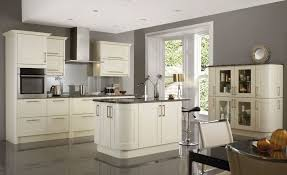 kitchen color ideas gray what color walls with gray cabinets white high gloss wood table