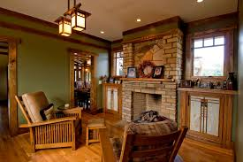 mission style furniture family room craftsman with built ins bungalow doorway earth