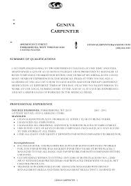 Your Resume[1] Professional For All Jobs. GENIVA CARPENTER 409CRESCENT ...