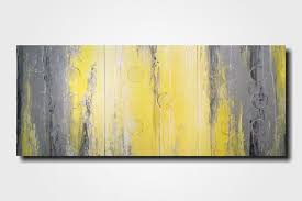 yellow gray wall art