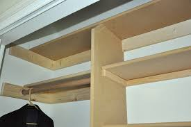 how to build shelves in a closet for storage walk diy install rod without studs support