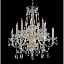 crystorama lighting group traditional crystal polished brass ten light crystal chandelier