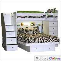 Sierra Twin over Full Berg Furniture Loft Beds and Bunk