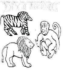 Farm Animal Coloring Pages For Preschoolers Zebra Toddlers Sheets In