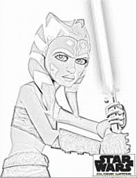Star Wars The Clone Wars Coloring Pages Free Printable Coloring