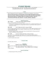 Free Resume Samples For Students Topshoppingnetwork Com