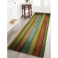 colorful wood plank print non skip indoor outdoor area rug w24 inch l71