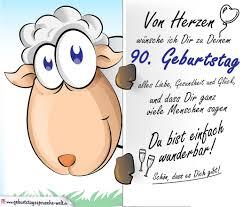 Geburtstagskarte Mit Schaf 90 Geburtstag Geburtstagssprüche Welt