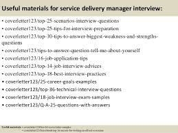 Sample Cover Letter For Service Delivery Manager Adriangatton Com
