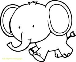 baby elephant coloring pages with little page and printables elephants