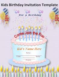free kids birthday invitation templatesorlandoseoservices.org ... Birthday Invitation Templates | Free Invitation Templates