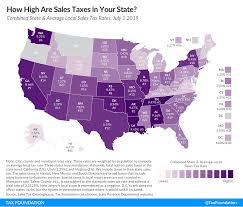 State And Local Sales Tax Rates Midyear 2019 Tax Foundation
