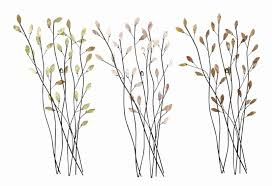 on metal wall art tree branches with trio of branches floral metal wall art