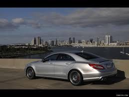 Mercedes-Benz CLS63 AMG (2012) US-Version - Iridium Silver - Side ...