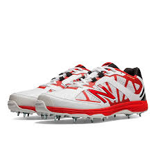 new balance shoes red. new balance ck 10 ab cricket spikes (white/red): amazon.in: sports, fitness \u0026 outdoors shoes red