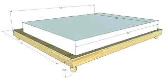 flat platform bed frame – allgeo