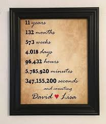 details about 11 year anniversary gift friend wife 11th anniversary wedding anniversary