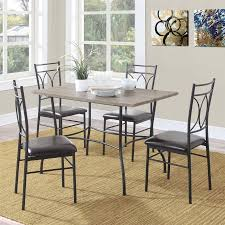 dining set wood. dorel living shelby 5-piece rustic wood and metal dining set d