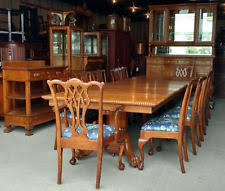 antique dining room chairs oak. Delighful Antique Antique Victorian Fancy Oak Dining Set U2013 15 Pcs Table China Server 12 With Room Chairs N