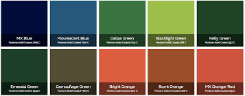Printing Colour Chart Printing Colours