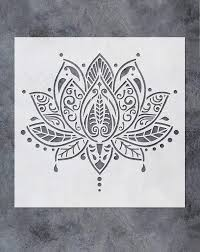 Stencil Art Designs For Walls Gss Designs Lotus Flower Mandala Wall Stencil Template 12x12 Inch Yoga Studio Boho Bedroom Decor Painting Stencils For Wood Wall Furniture Floor