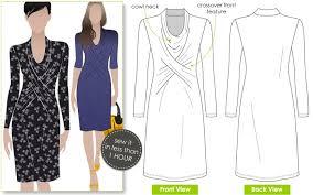 Knit Dress Pattern Magnificent Marita Knit Dress Style Arc