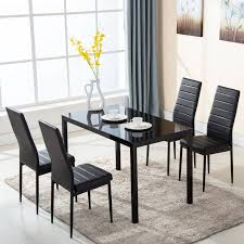 table 4 chairs set. ktaxon 5 piece dining table and chairs set,4 chairs,glass breakfast furniture 4 set t