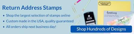Custom Address Stamps Fast, Return Address Stamp | SimplyStamps.com