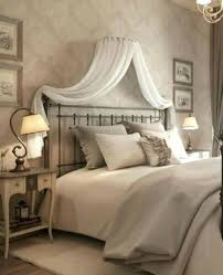 Adult BED CANOPY Set WHITE corona with Wall frame Drapes & Beaded ...