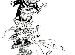 Phenomenal Nightmare Before Christmas Coloring Pages Halloween Decor