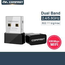 <b>Comfast CF 811AC 650Mbps</b> 5GHz Dual Band USB <b>Wireless Wifi</b> ...