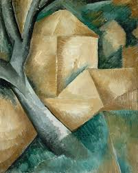 georges braque 1908 maisons et arbre houses at l estaque oil on canvas 40 5 x 32 5 cm lille métropole museum of modern contemporary and outsider art