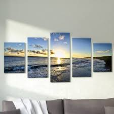 day break 5 piece photographic print multi piece image on canvas on 4 piece canvas wall art with 4 piece wall art sets you ll love wayfair