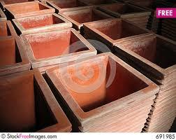 Square Clay Pots