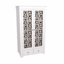 <b>Шкаф 2х дверный</b> со стеклянными дверями Бейли белый воск из ...