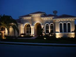 outdoor house lighting ideas. Architectural Uplighting On Stone Finish Outdoor House Lighting Ideas