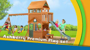 Big Backyard  Falcon Ridge Wood Swing Set 250000  Outdoor Big Backyard Ashberry Wood Swing Set